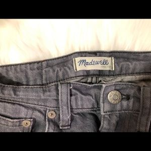 Madewell Grey Slim Boyjean - Lightly Distressed